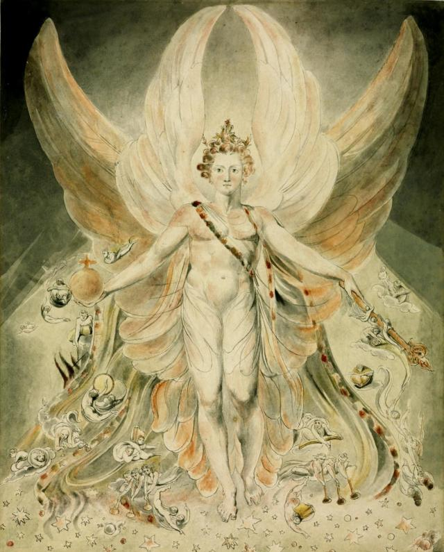 Satan in his Original Glory: 'Thou wast Perfect till Iniquity was Found in Thee' c.1805 by William Blake 1757-1827